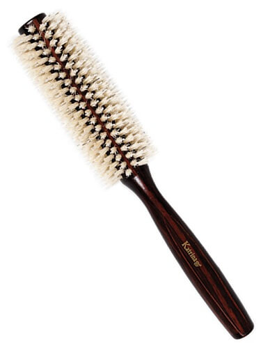 ROUND WOOD HAIR DRYER BRUSH – (LARG SIZE)