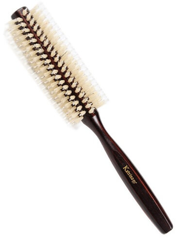 ROUND WOOD HAIR DRYER BRUSH – (MEDIUM SIZE)